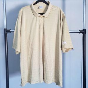 3/$20 Mens ADIDAS Gold Button Polo Size 3XL